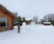 Snow Fun at the Log Cabins 1