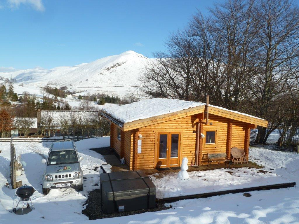 The log cabins at glenbeag mountain lodges a winter