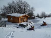 Scotsview Log Cabin Winter