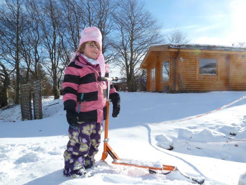 Scotsview Log Cabin Winter 3