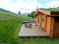 Scotsview Log Cabin Deck Area