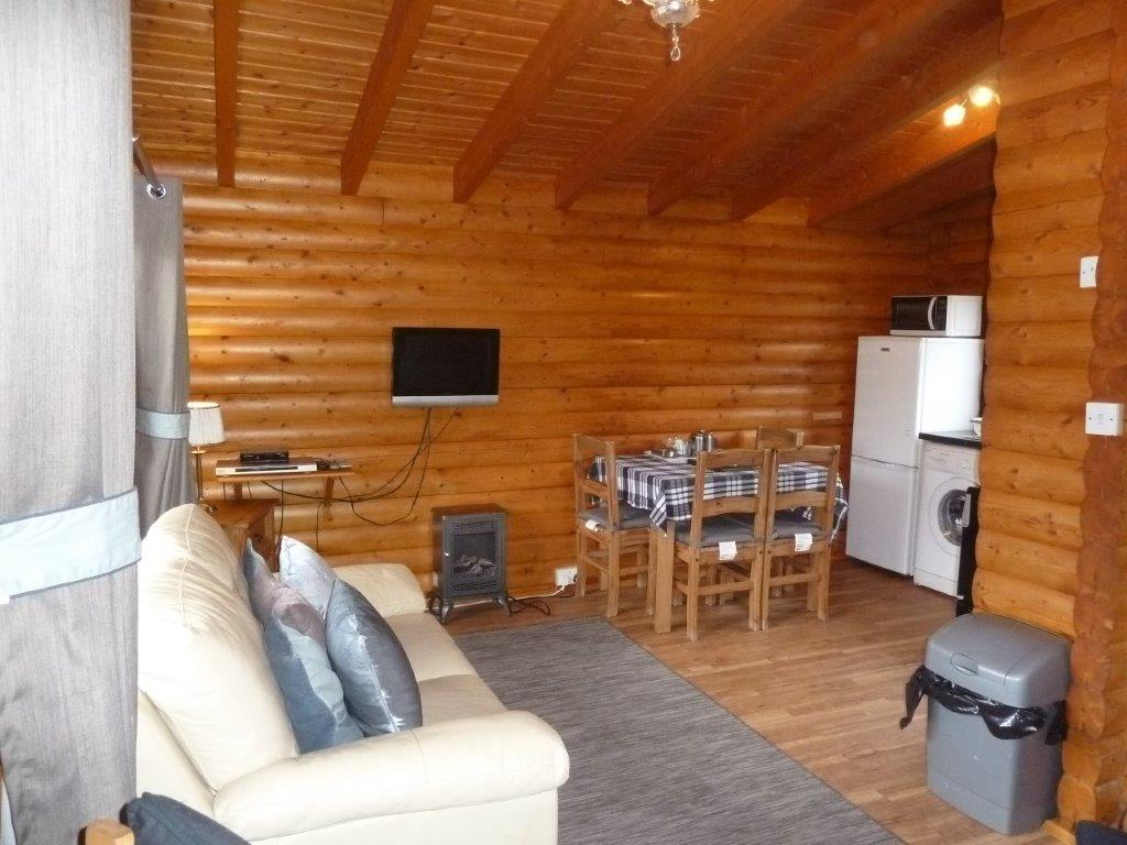 Clashmore Log Cabin Living Room