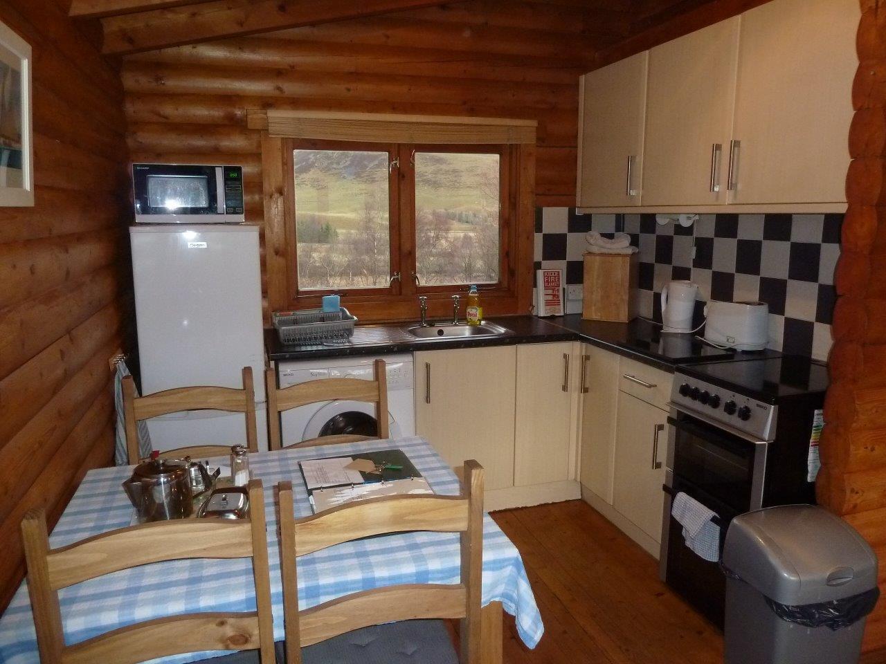 Clashmore Log Cabin Kitchen