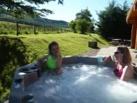 Dalhuddal Log Cabin Hot Tub