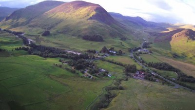 Overhead shots of Glenbeag Mountain Lodges