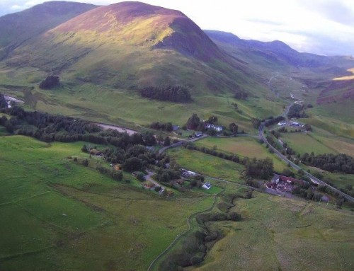 Overhead shot of Glenbeag Mountain Lodges