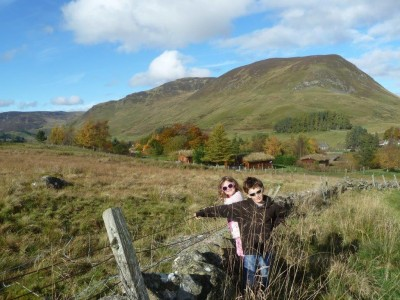 A Cateran Trail Autumn Walk Looking Back at the Log Cabins