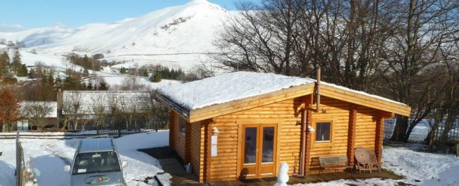 The Log Cabins at Glenbeag Mountain Lodges A Winter Wonderland