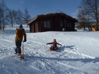 Glenbeag Log Cabin Snow Fun
