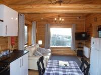Scotsview Log Cabin Living Room